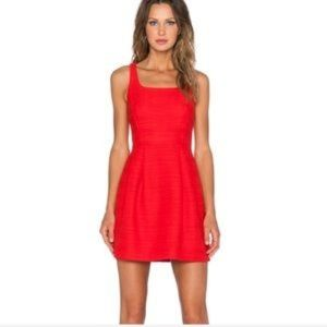 1. State Textured Red Mini Dress
